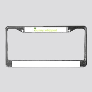 bunny-whipped logo License Plate Frame