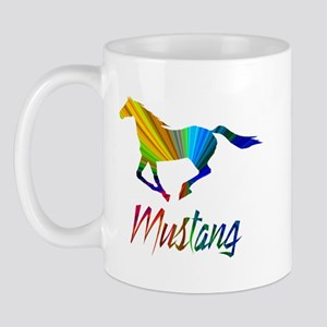 Colorful Galloping Mustang Mug