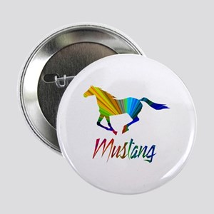 """Colorful Galloping Mustang 2.25"""" Button"""