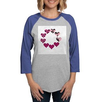 Circle of Pink Hearts Long Sleeve T-Shirt