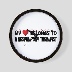 Belongs To A Respiratory Therapist Wall Clock
