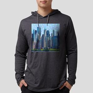 New York City Meteor Shower Long Sleeve T-Shirt