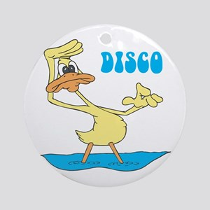 Disco Duck Ornament (Round)