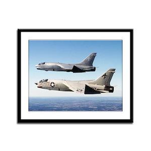 F-8 Crusader Framed Panel Print