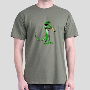 Blues Trumpet Gecko Dark T-Shirt