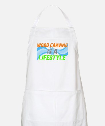 Wood carving is a lifestyle BBQ Apron