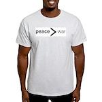 Peace greater than war Ash Grey T-Shirt