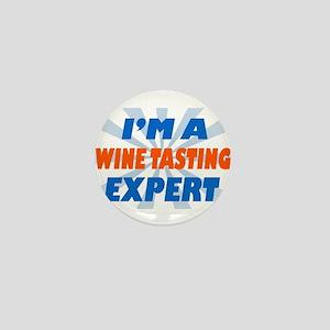 im a winetasting expert Mini Button
