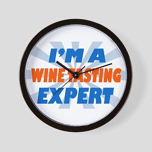 im a winetasting expert Wall Clock