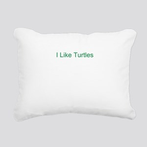 I Like Turtles Rectangular Canvas Pillow