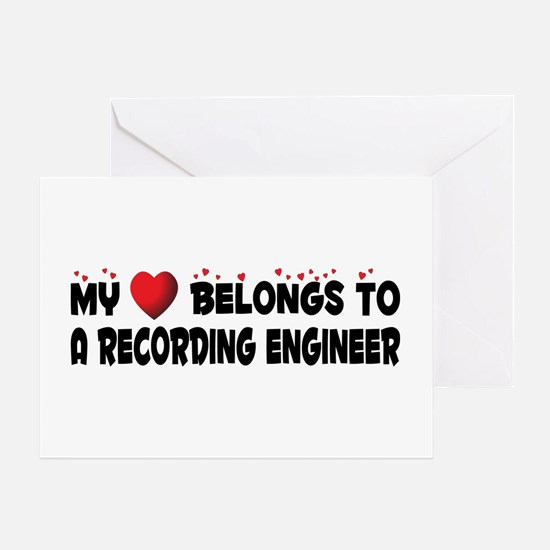 Belongs To A Recording Engineer Greeting Card
