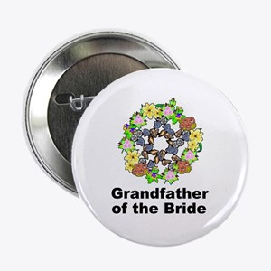 """Pagan Pentagram Grandfather of the Bride 2.25"""" But"""