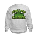Irish I Was Drunk Shamrock Kids Sweatshirt