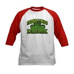 Irish I Was Drunk Shamrock Kids Baseball Jersey