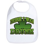 Irish I Was Drunk Shamrock Bib