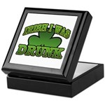 Irish I Was Drunk Shamrock Keepsake Box