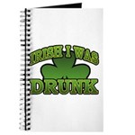 Irish I Was Drunk Shamrock Journal
