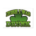 Irish I Was Drunk Shamrock Mini Poster Print