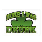 Irish I Was Drunk Shamrock Postcards (Package of 8