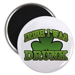 Irish I Was Drunk Shamrock Magnet