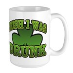Irish I Was Drunk Shamrock Large Mug