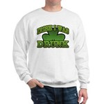 Irish I Was Drunk Shamrock Sweatshirt