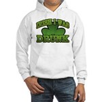 Irish I Was Drunk Shamrock Hooded Sweatshirt