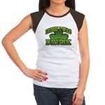 Irish I Was Drunk Shamrock Women's Cap Sleeve T-Sh
