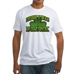 Irish I Was Drunk Shamrock Fitted T-Shirt