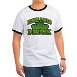 Irish I Was Drunk Shamrock Ringer T