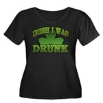 Irish I Was Drunk Shamrock Women's Plus Size Scoop