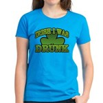 Irish I Was Drunk Shamrock Women's Dark T-Shirt