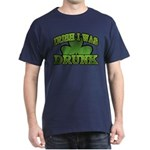 Irish I Was Drunk Shamrock Dark T-Shirt
