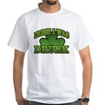 Irish I Was Drunk Shamrock White T-Shirt
