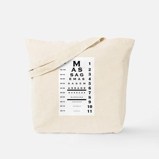 Massage Eye Chart Tote Bag
