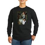 Ophelia / Collie (tri) Long Sleeve Dark T-Shirt