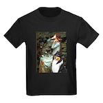 Ophelia / Collie (tri) Kids Dark T-Shirt