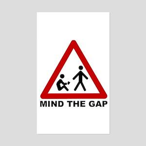 Mind The Gap (Class) Rectangle Sticker