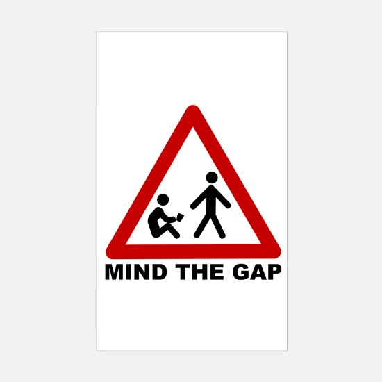 Mind The Gap (Class) Rectangle Decal