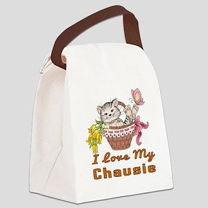 I Love My Chausie Designs Canvas Lunch Bag