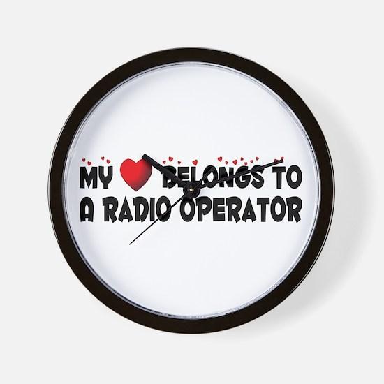 Belongs To A Radio Operator Wall Clock