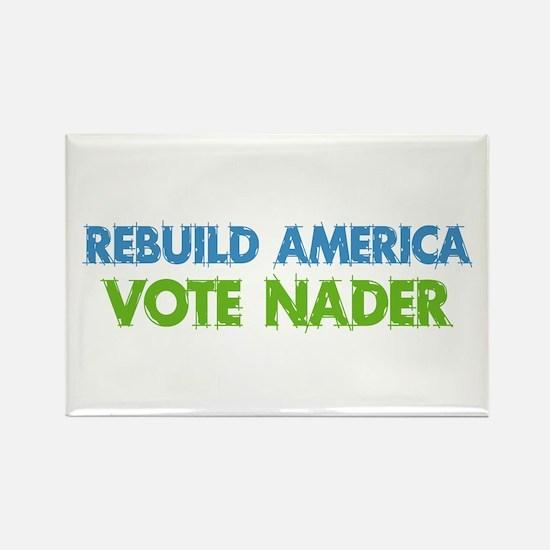 Vote Nader Rectangle Magnet