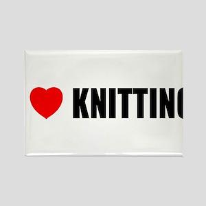 I Love Knitting Rectangle Magnet