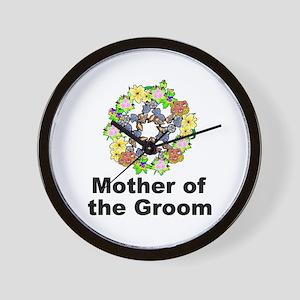 Pagan Pentagram Mother of the Groom Wall Clock