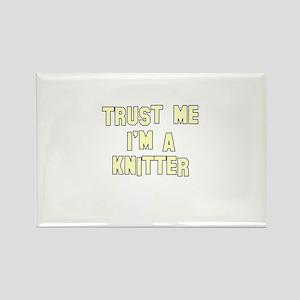 Trust Me I'm a Knitter Rectangle Magnet