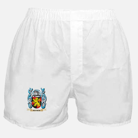 Mathew Coat of Arms - Family Crest Boxer Shorts
