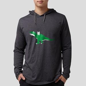 Cat Loves Dinosaur Long Sleeve T-Shirt