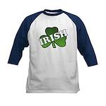 Green Shamrock Shamrock Kids Baseball Jersey