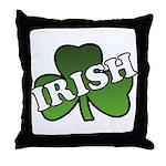 Green Shamrock Shamrock Throw Pillow
