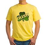 Green Shamrock Shamrock Yellow T-Shirt